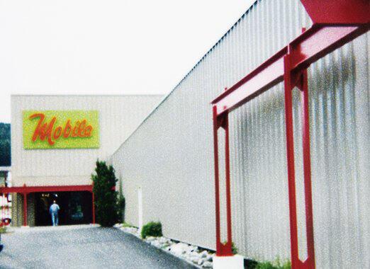 """1985 - Der dritte Erweiterungsbau unter dem Namen """"Mobila"""""""