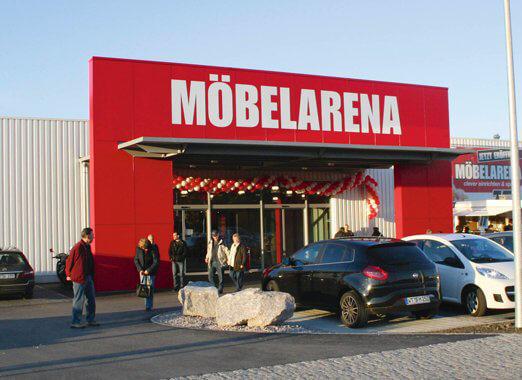 2010 - Schließung SB-Markt in Dogern, Neueröffnung Möbelarena im Gewerbepark Waldshut