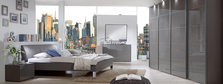 modernes schlafzimmer in grau - Schlafzimmer