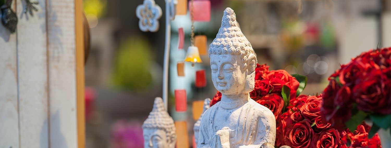 Dekorative Buddha-Statue