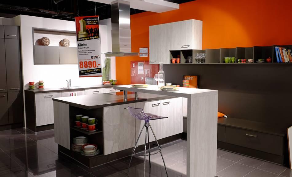 ausstellungsk chen zu sonderpreisen m belmarkt dogern. Black Bedroom Furniture Sets. Home Design Ideas