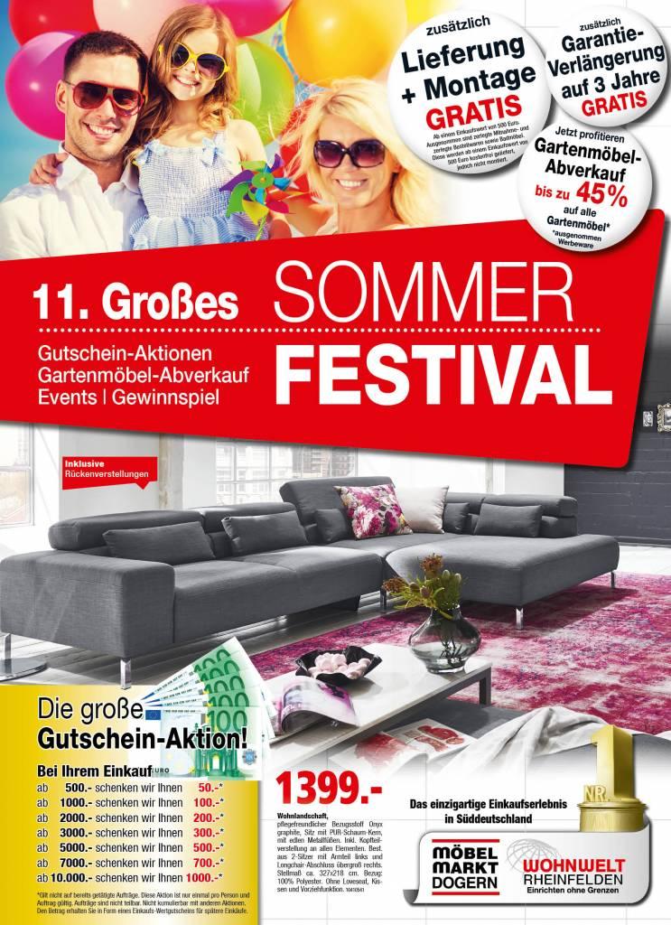 11 gro es sommer festival m belmarkt dogern ihr einrichtungshaus im einzugsgebiet z rich. Black Bedroom Furniture Sets. Home Design Ideas
