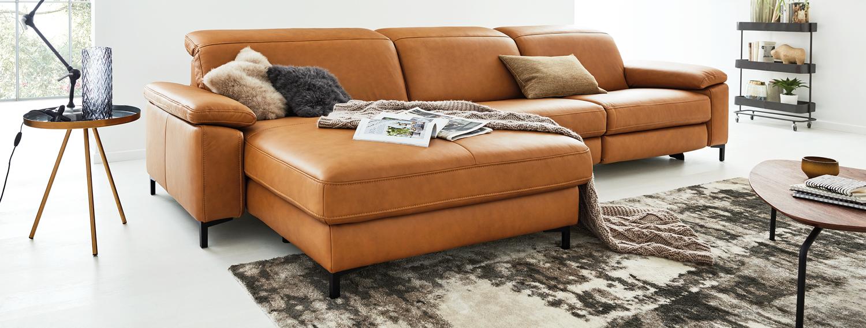 Wohnzimmer orange Interliving Modell 4054 pc
