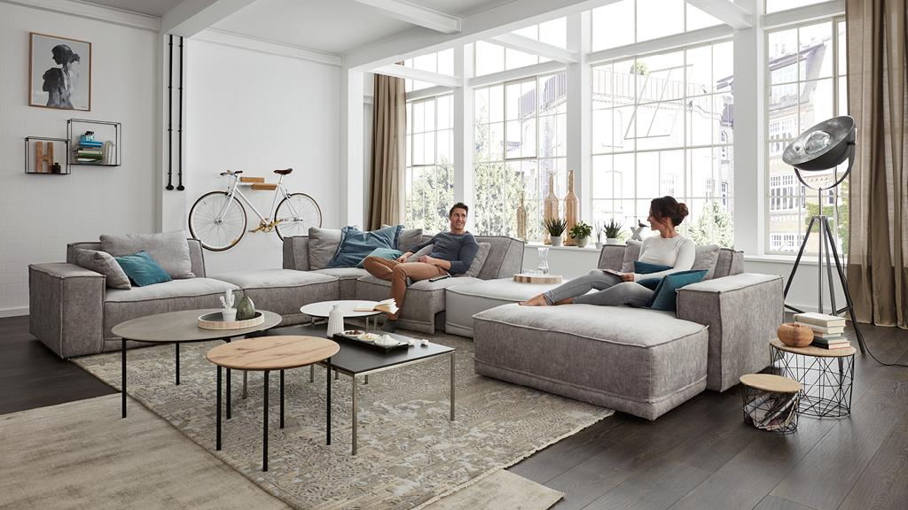 gro es wohnzimmer viel platz zur gestaltung m belmarkt dogern ihr einrichtungshaus im. Black Bedroom Furniture Sets. Home Design Ideas
