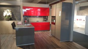 Küche rot grau Culineo