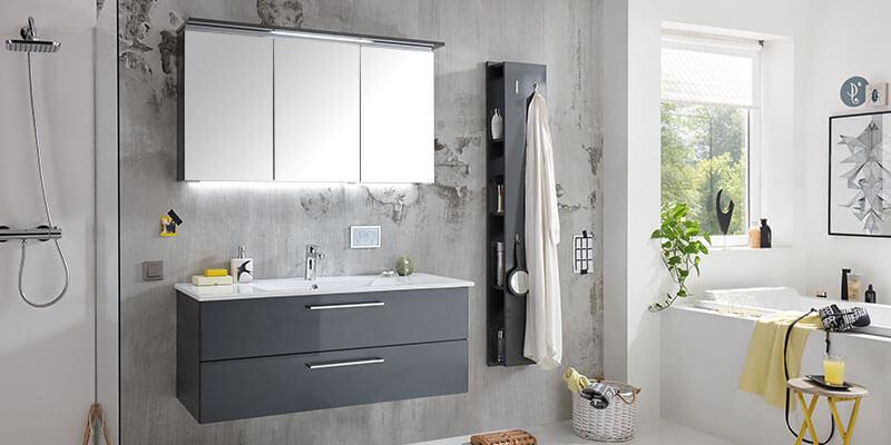 Badezimmer anthrazit Puris