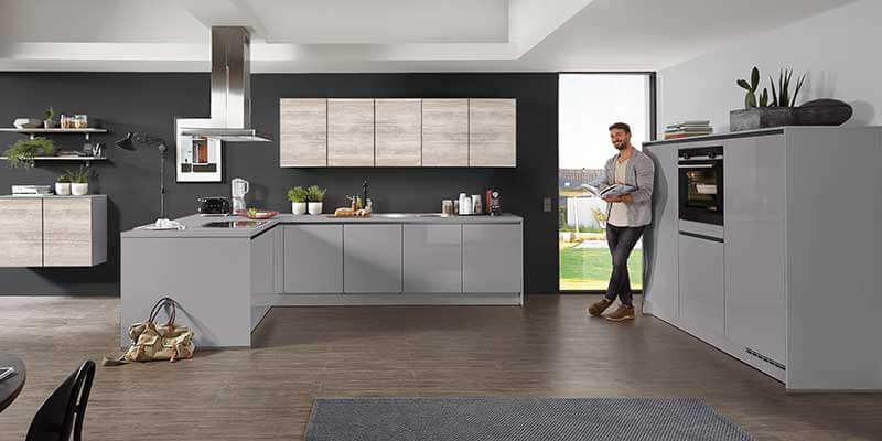 Küche grau Nobilia