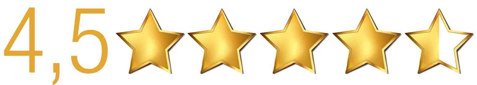 4,5 Sterne Bewertung