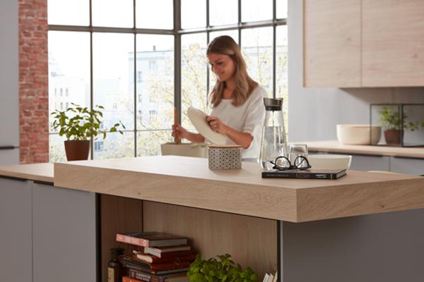 Küche grau Interliving