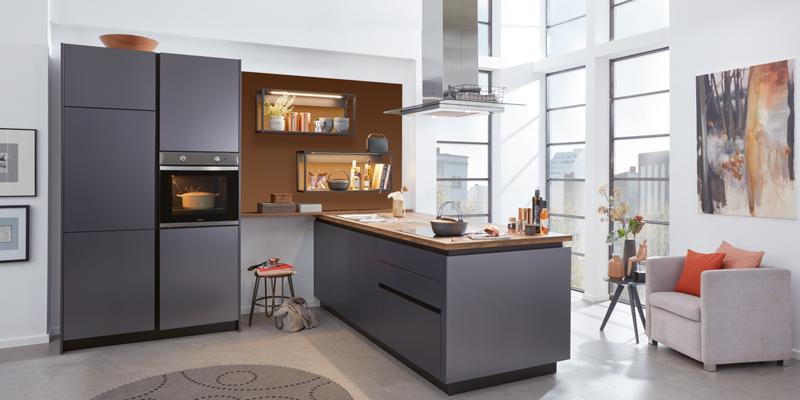 Küche grau Wert
