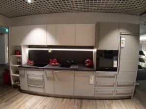 Küche weiß grau