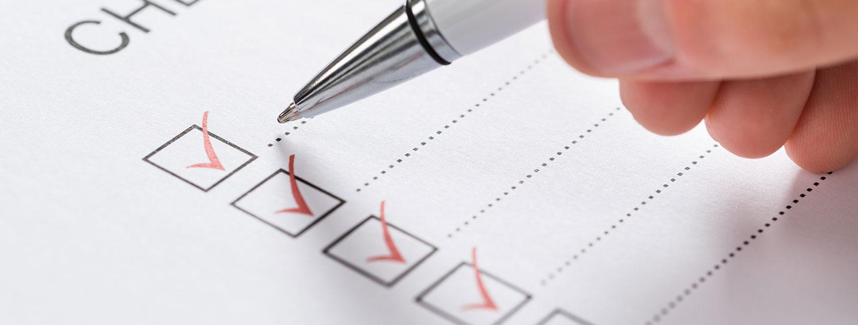 Checkliste für Möbelkauf