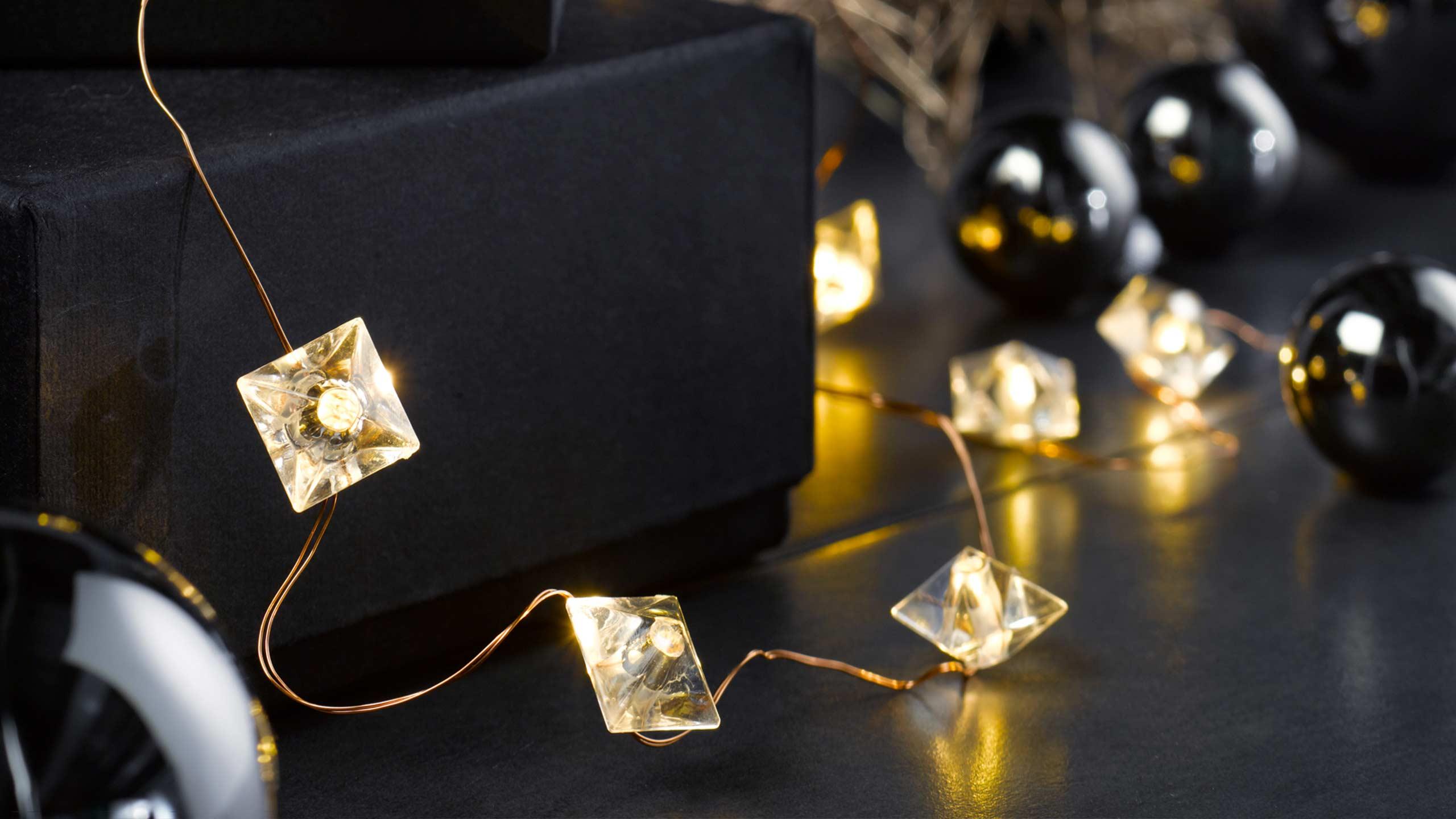 Deko Weihnachten Lichter Tisch
