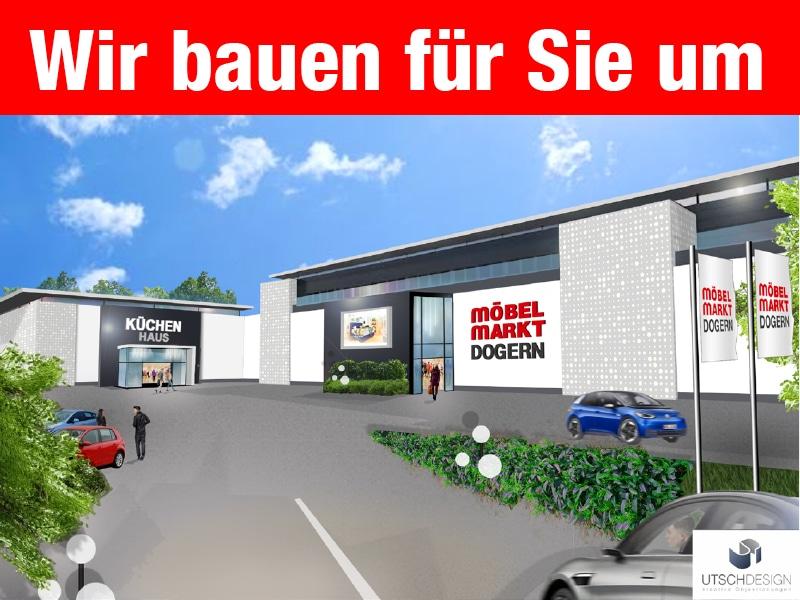 Gebäude Dogern Möbelmarkt Umbau